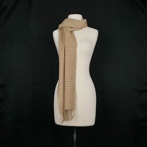 D&Y Softer Than Cashmere Brown Tan Acrylic Scarf